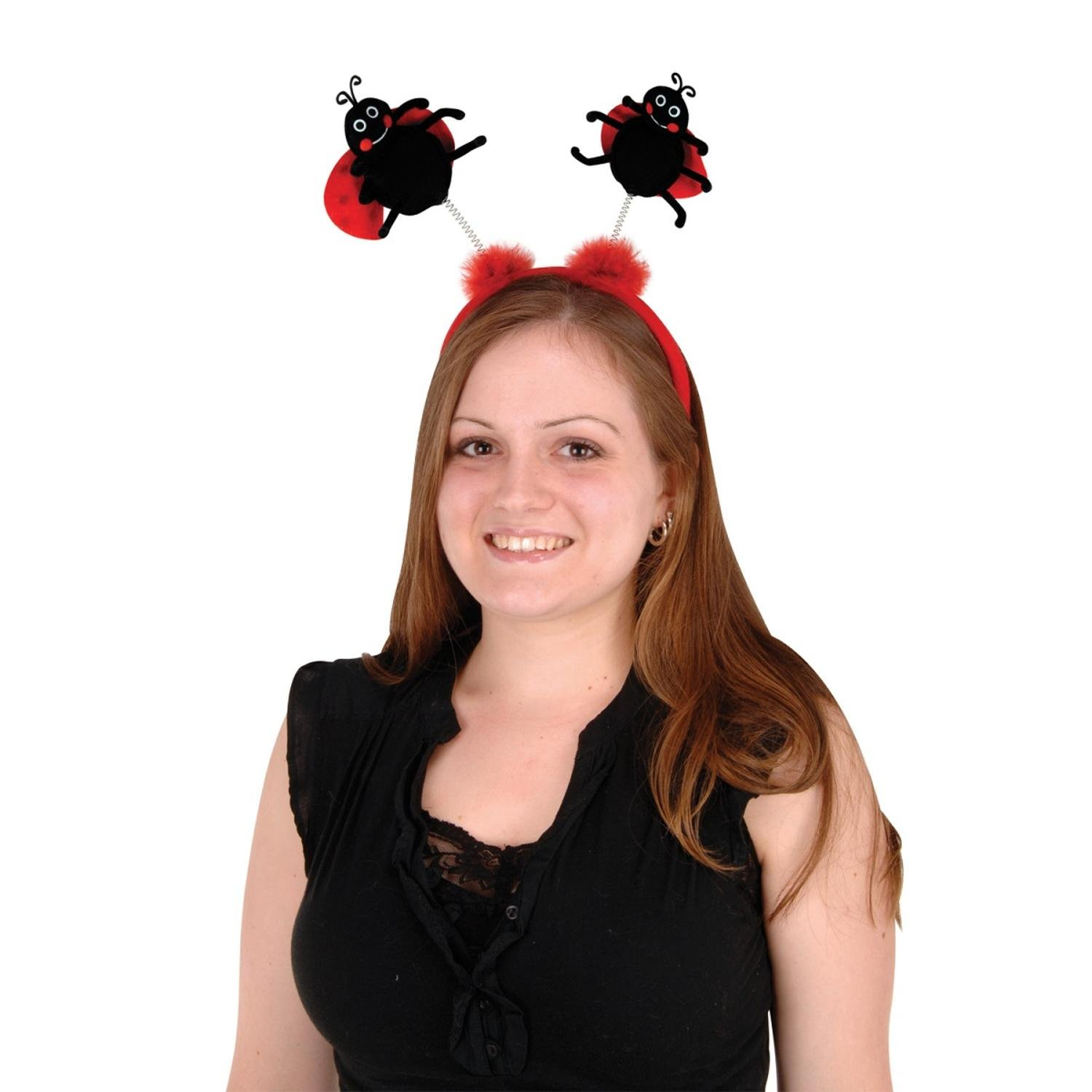 Club Pack of 12 Black and Red Ladybug Boppers Headband Party Favors by Party Central