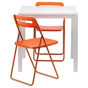 Zigzag Trading Ltd IKEA MELLTORP/Nisse - Mesa y 2 sillas ...