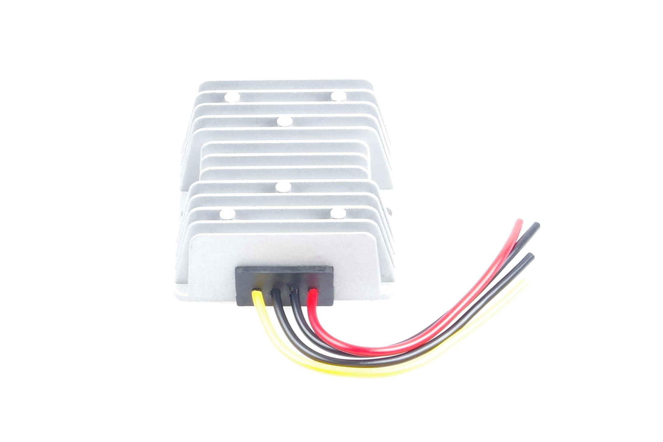 KNACRO 24V 36V 48V 60V (20-75V) To 12V DC-DC Waterproof Boost Converter Automatic Step Down Voltage Regulator Module Car Power Supply Voltage Transformer With 4 Wires (IN DC 60V (20-75V), OUT 12V 15A)
