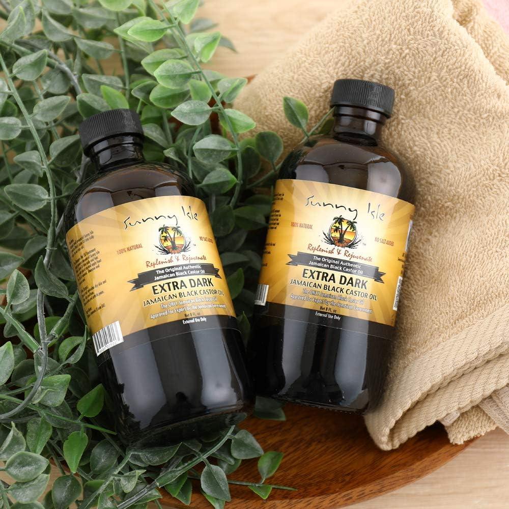 Aceite de ricino negro Sunny Isle, extra oscuro de Jamaica, 8 onzas (227 ml): Amazon.es: Belleza