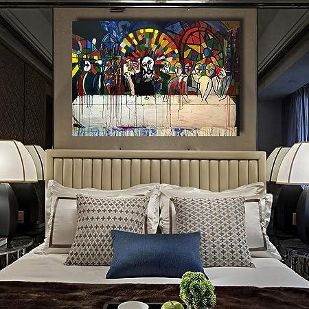ZJMI Pintura Decorativa Pintura en Tela Arte Mural la Última ...
