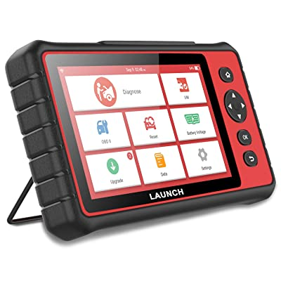 LAUNCH CRP909 WiFi All-System Car Code Reader Automotive Smart Diagnostic Tablet Check Auto OBD2 Engine ABS Airbag Body Window Audio 4WD Brake HVAC Scan Tool with 15 Service Functions: Automotive