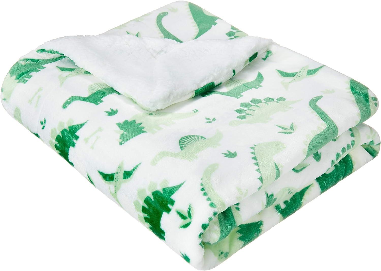 Basics Soft Micromink Sherpa Blanket - Throw, Navy Blue: Home & Kitchen