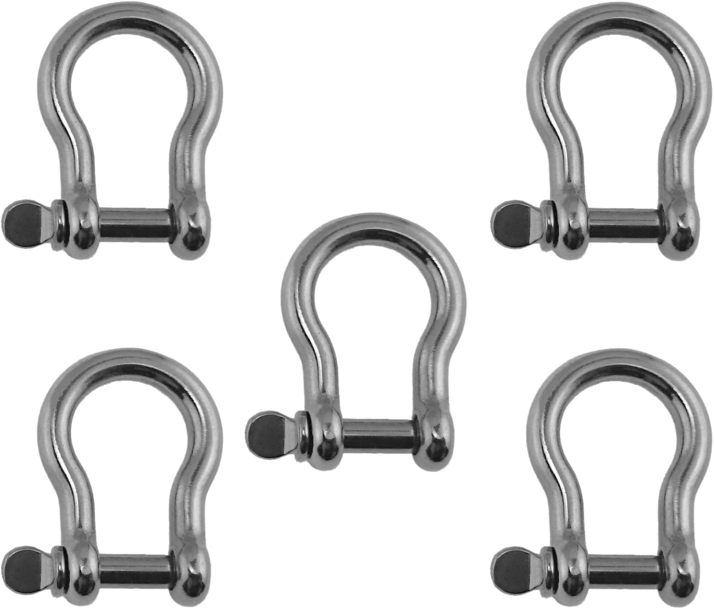 """4mm Marine Grade Stainless Steel 316 Bow Shackle 5//32/"""""""