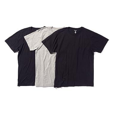 10a1c124 Men's Crew Neck T Shirts – Basic Outfitters – Cotton Jersey Plain Tee –  [BLACK