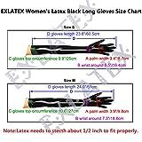 EXLATEX Women's Latex Rubber Arm Long Mittens