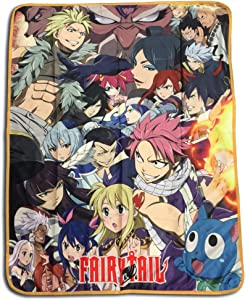 GE Animation GE-57824 Fairy Tail Big Group Sublimation Throw Blanket,Multicolor