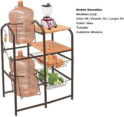 Mueble Para Cocina Modelo Doble Garrafón: Amazon.com.mx: Hogar y Cocina