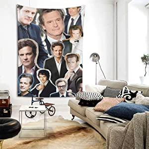 Colin Firth Tapestry Wall Hanging Tapestries beach tapestry for Living Room Bedroom Dorm Room Decor Blanket 80X60 inch