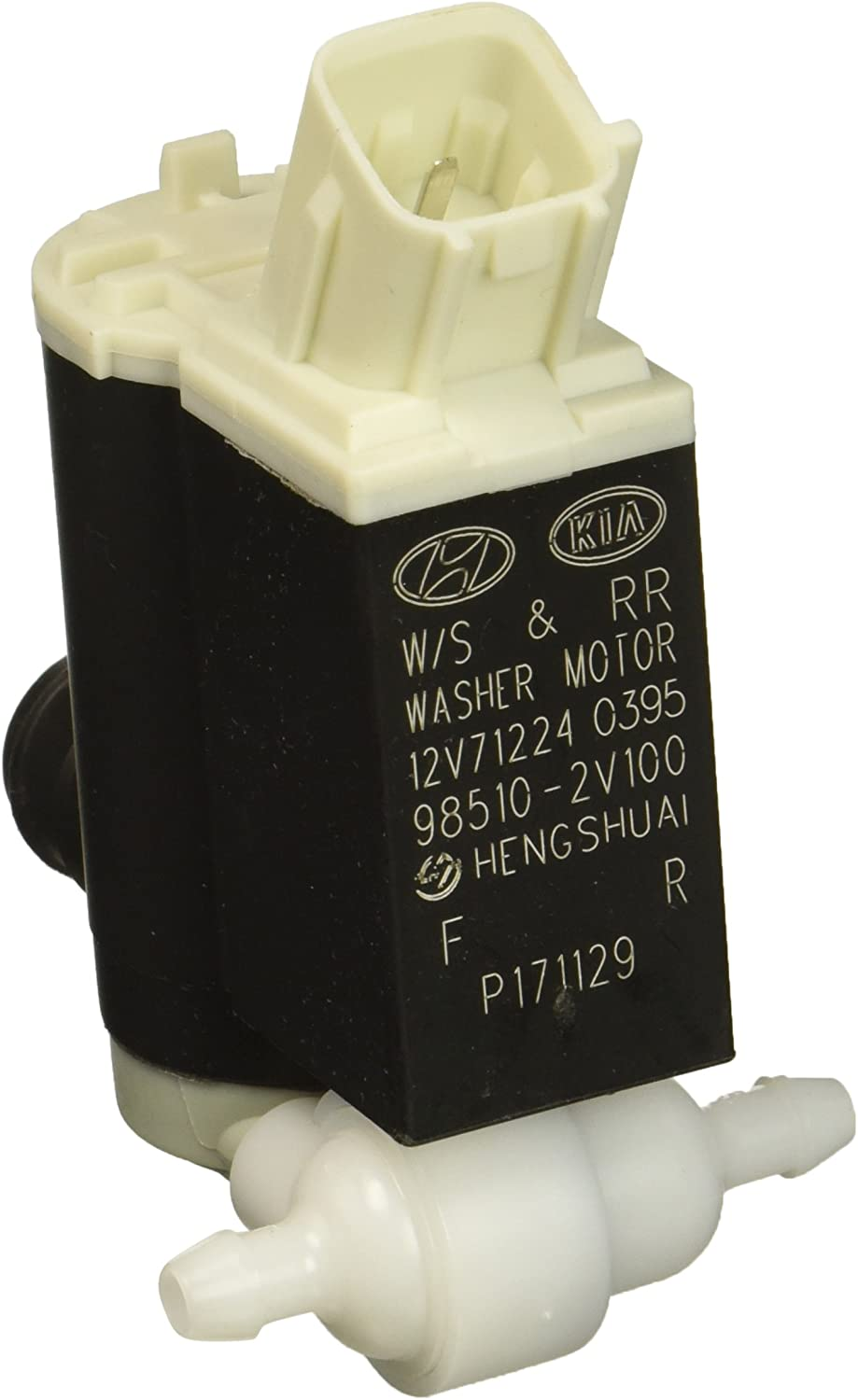Vehicle Windshield Washer Pump 98510-26100 3-Pin Connector Twin Outlet Compatible with Elantra Santa Fe Cerato Replacement Part