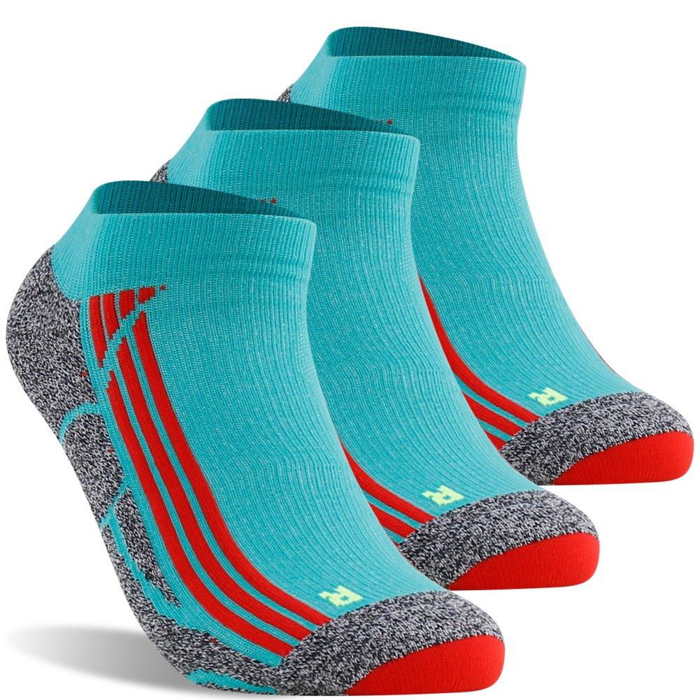 No Show Running Socks, LANUDNCIGIA Ankle Hidden Travel Compression Low Cut Tennis Cycling Marathon Golf Racing Socks,3 Pairs