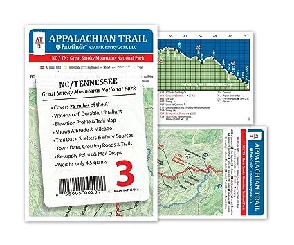 Amazon.com : Appalachian Trail Map AT-3 GSMNP Great Smokey Mountains ...