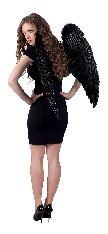 /Ángel alas de plumas de las alas negras 87 x 72 cm