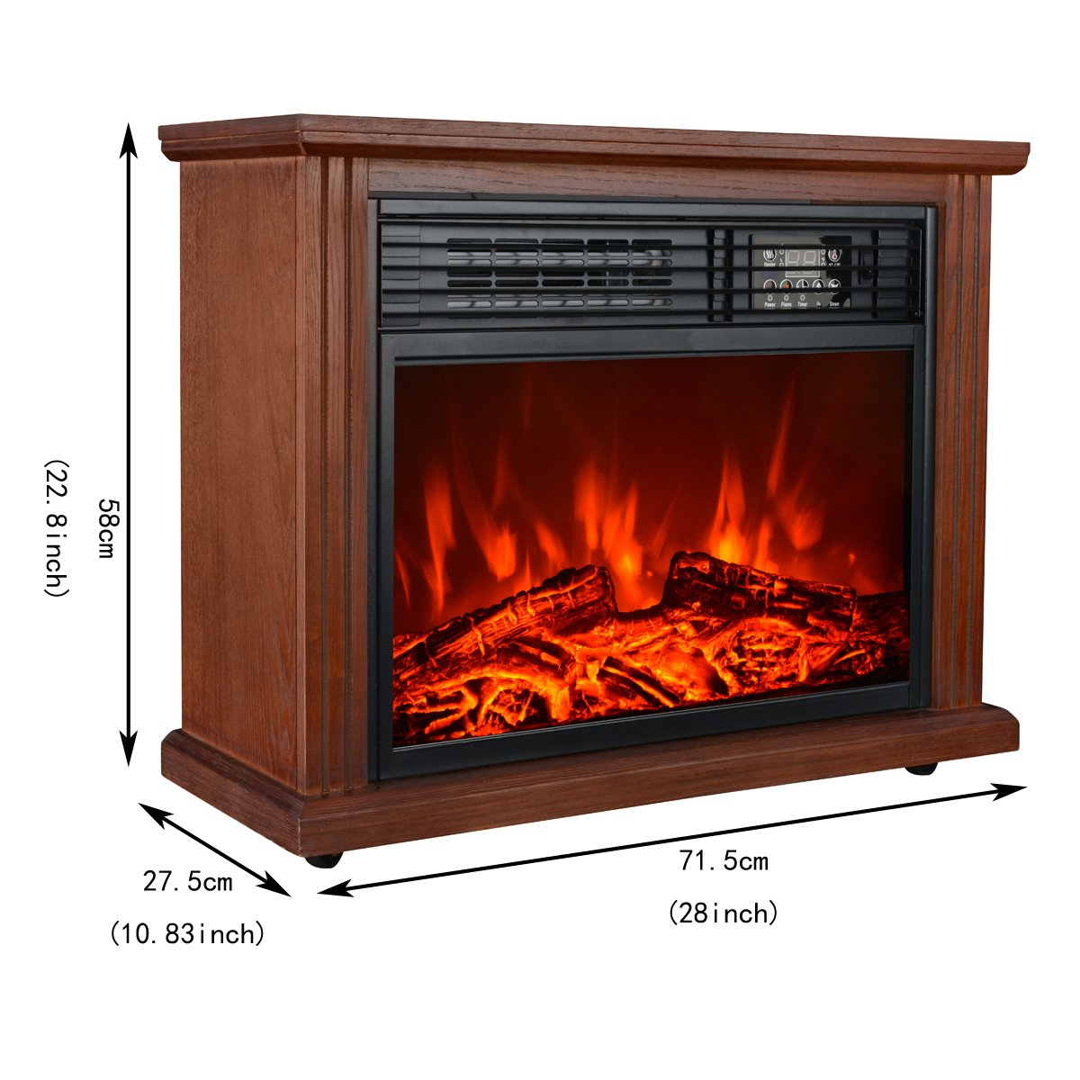 amazon com hollyhome 28 u0027 u0027 free standing electric fireplace with 3