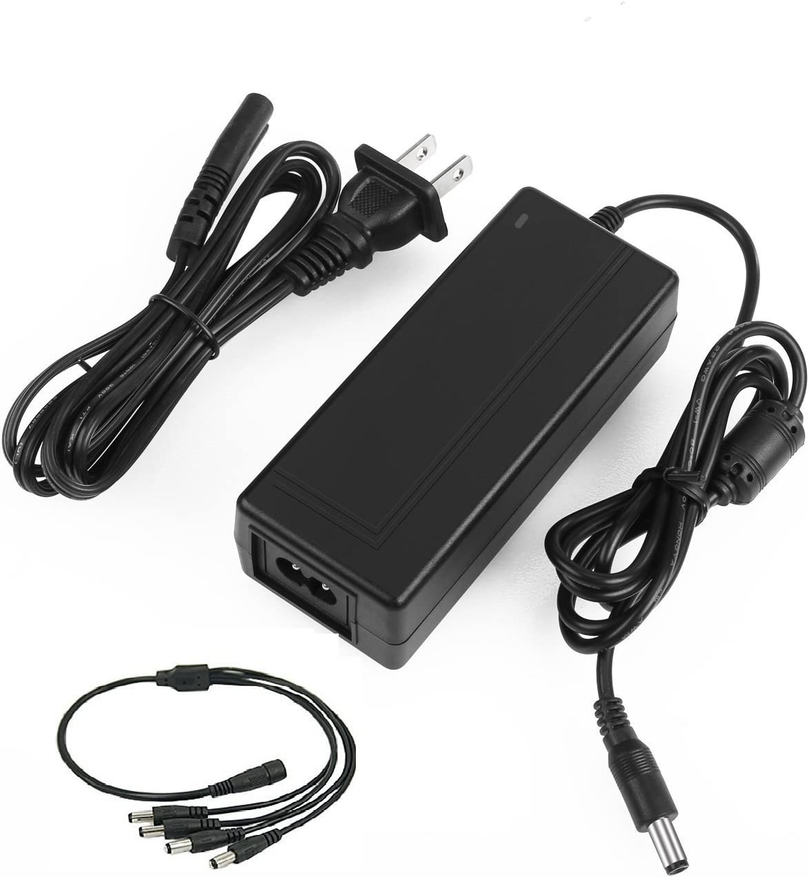 1 to 4 Power Splitter for CCTV Security Camera AC//DC Power Adapter 12V 3Amp