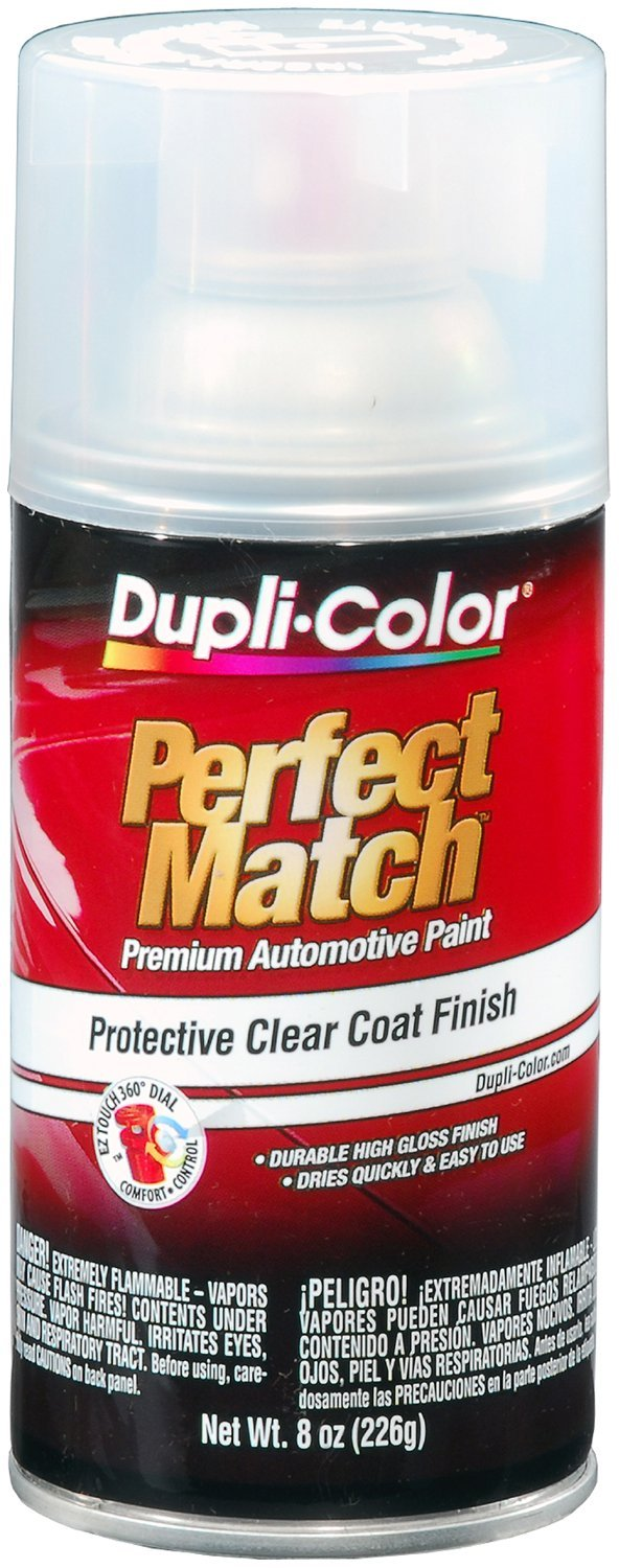 Dupli-Color EBCL01257 Clear Perfect Match Automotive Top Coat - 8 oz. Aerosol
