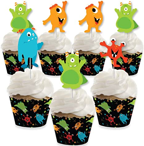 Monster Bash – Decoración de cupcakes – Little Monster cumpleaños ...