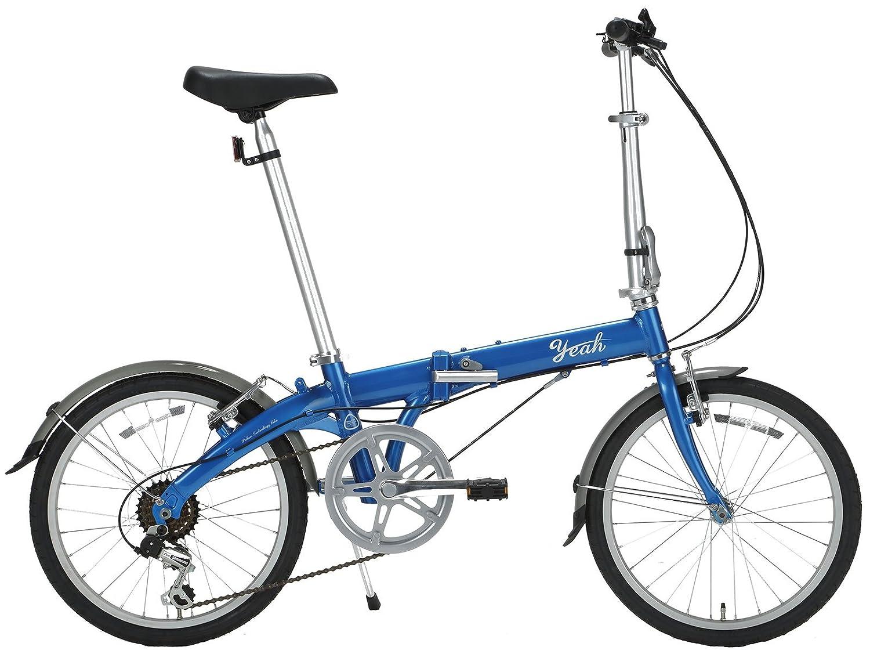 yeah(ヤー) スティンガー 20インチ 6段変速 DAHONライセンス 折りたたみ自転車 R143 メタリックブルー   B072MK1496