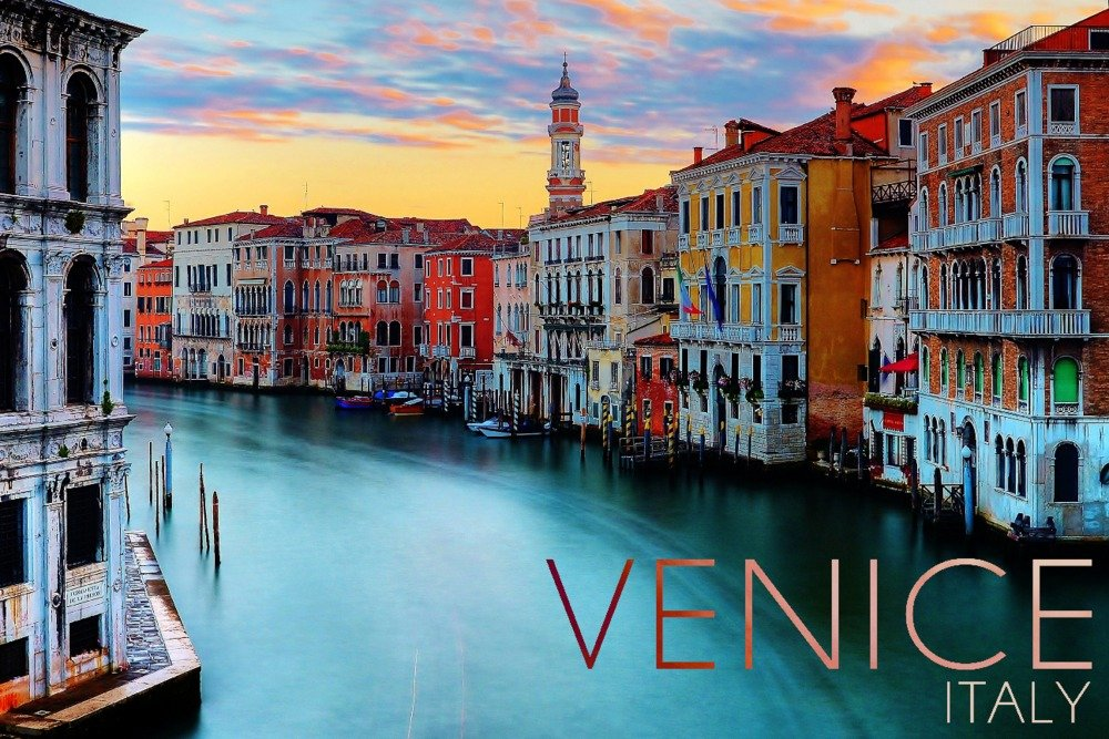 Venice, Italy - Canal View (16x24 Giclee Gallery Print, Wall Decor Travel Poster)
