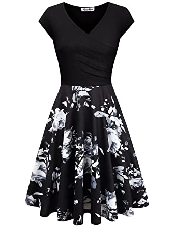 0960a403b9e2c KASCLINO Women s Floral Printed Dress