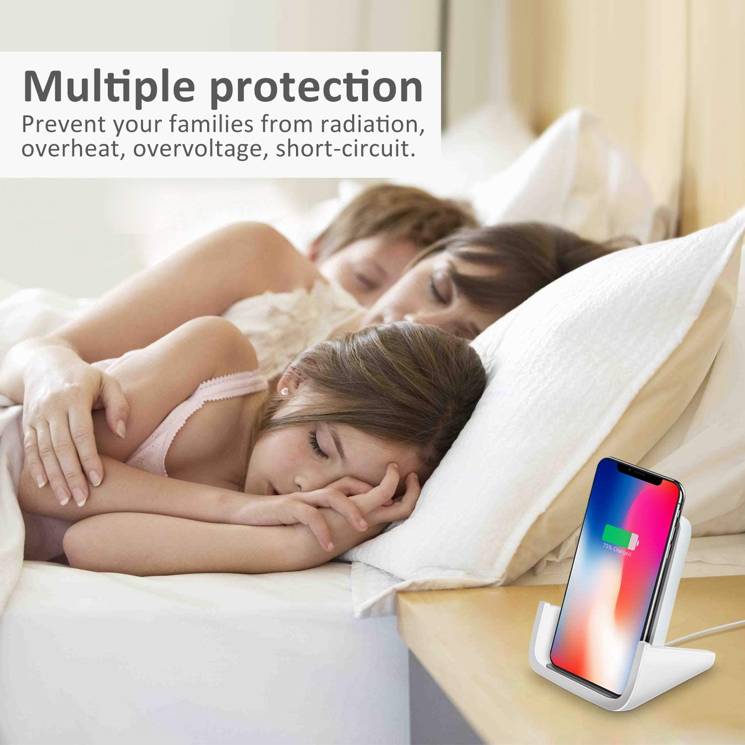 Wireless Charger YUWISS Wireless Charging Stand Cordless Charger Qi-Certified 10//7.5//5W Compatible with iPhone 11//11Pro//11Pro Max//XR//XS Max//XS//X//8//8Plus Galaxy S10//S9//S9+//S8//S8+ Note 10//9//8 White
