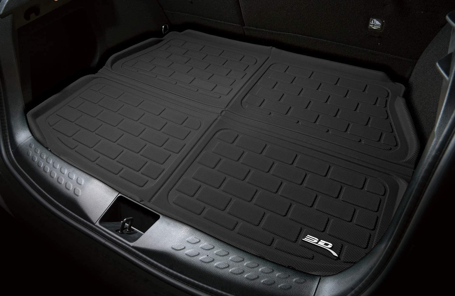 3D MAXpider M1TL0001309 Custom Fit All-Weather Kagu Series Cross Fold Rear Cargo Liner in Black for Select Tesla S Models
