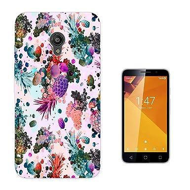 003527 – Cool Summer Fruits Collage diseño Vodafone Smart Turbo 7 Fashion Trend Case Funda Silicona