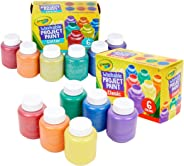Crayola Washable Kids Paint, 12Count, Amazon Exclusive, Gift, Assorted and Glitter