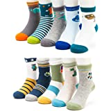Toddler Kids Little Boys Colorful Novelty Fashion Cotton Crew Socks 10 Pairs/5 Pairs
