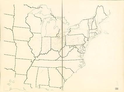 Amazon.com: Historic 1941 Map | [Underground Railroad map of ...