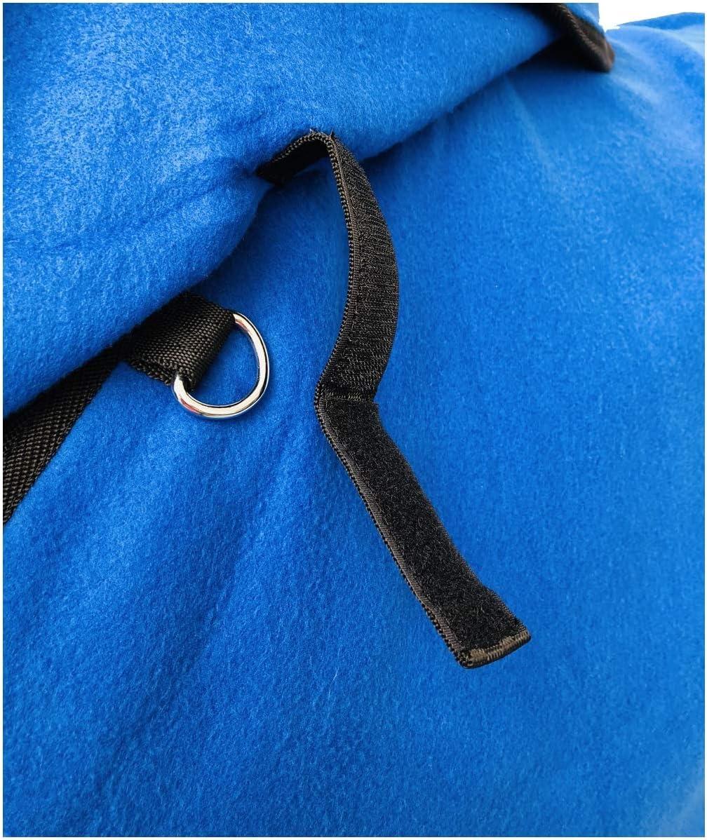 HKM by Reiterladen24 Abschwitzdecke mit Halsteil BASICLINE dunkelblau abnehmbar