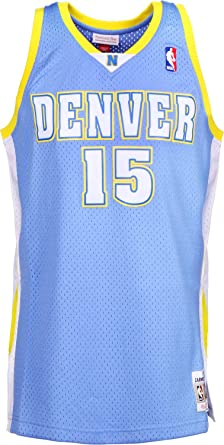 new product 361cf 39909 Amazon.com: Mitchell & Ness Carmelo Anthony 15 Denver ...