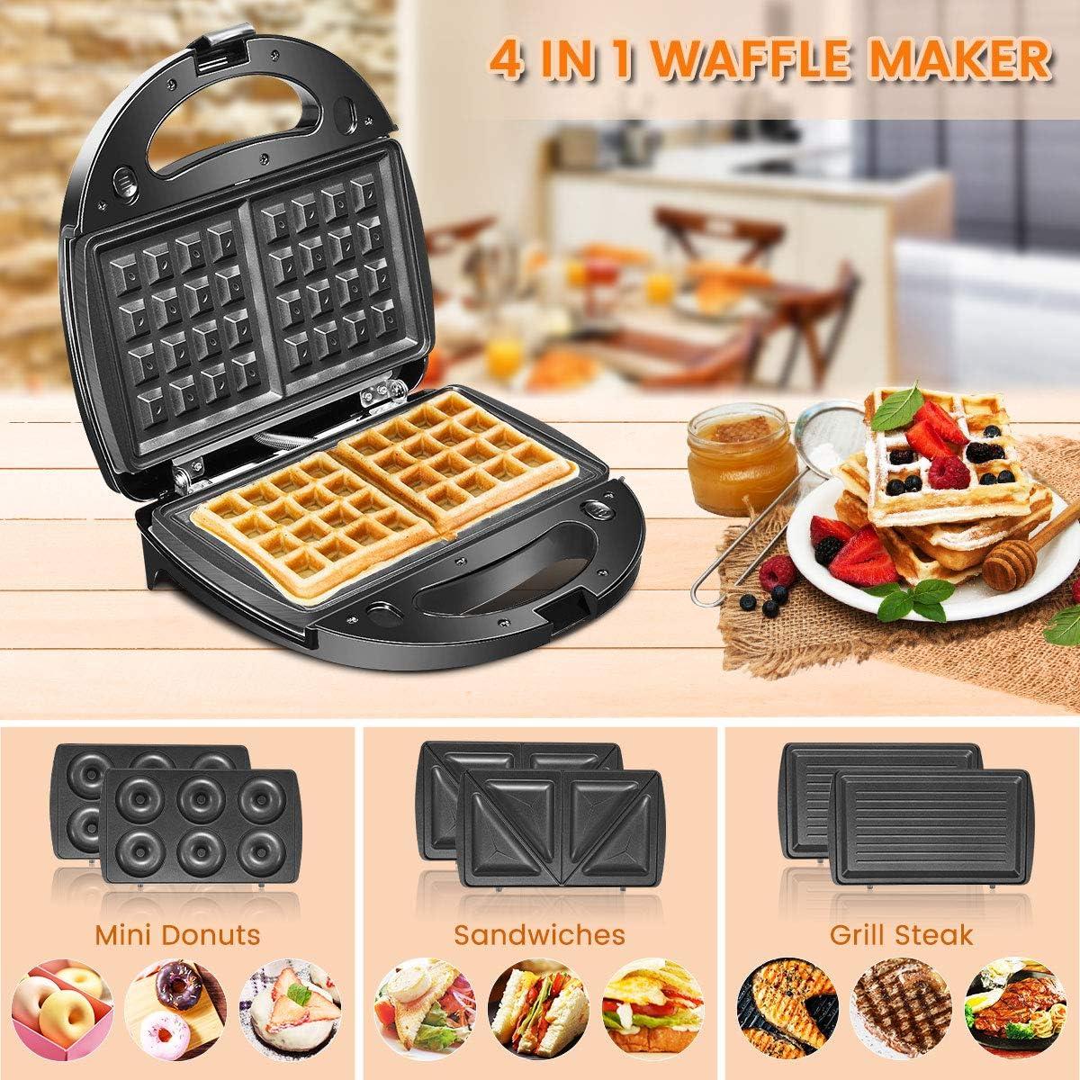 Sandwich Machine Home Waffeleisen doppelseitige Multifunktions-Bratpfanne Sandwich Toaster Fr/ühst/ücksmaschine Antihaft-Backform