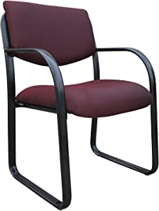 Boss Office Products Fabric Guest Chair in Burgundy