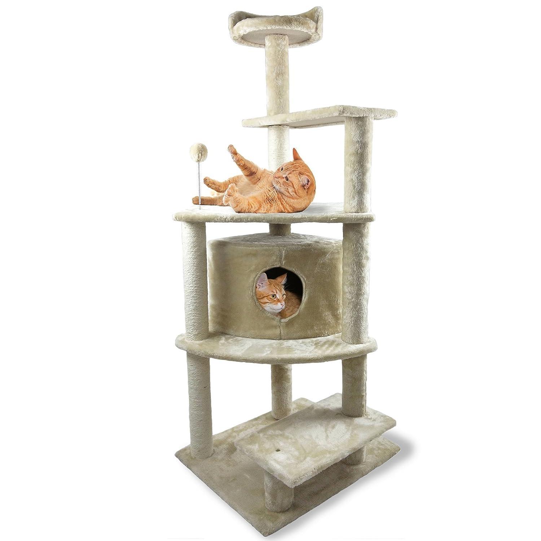Cat House Furniture LargeFurhaven Pet Products 95903 Tiger Tough Plush, Cream Hammock, Medium