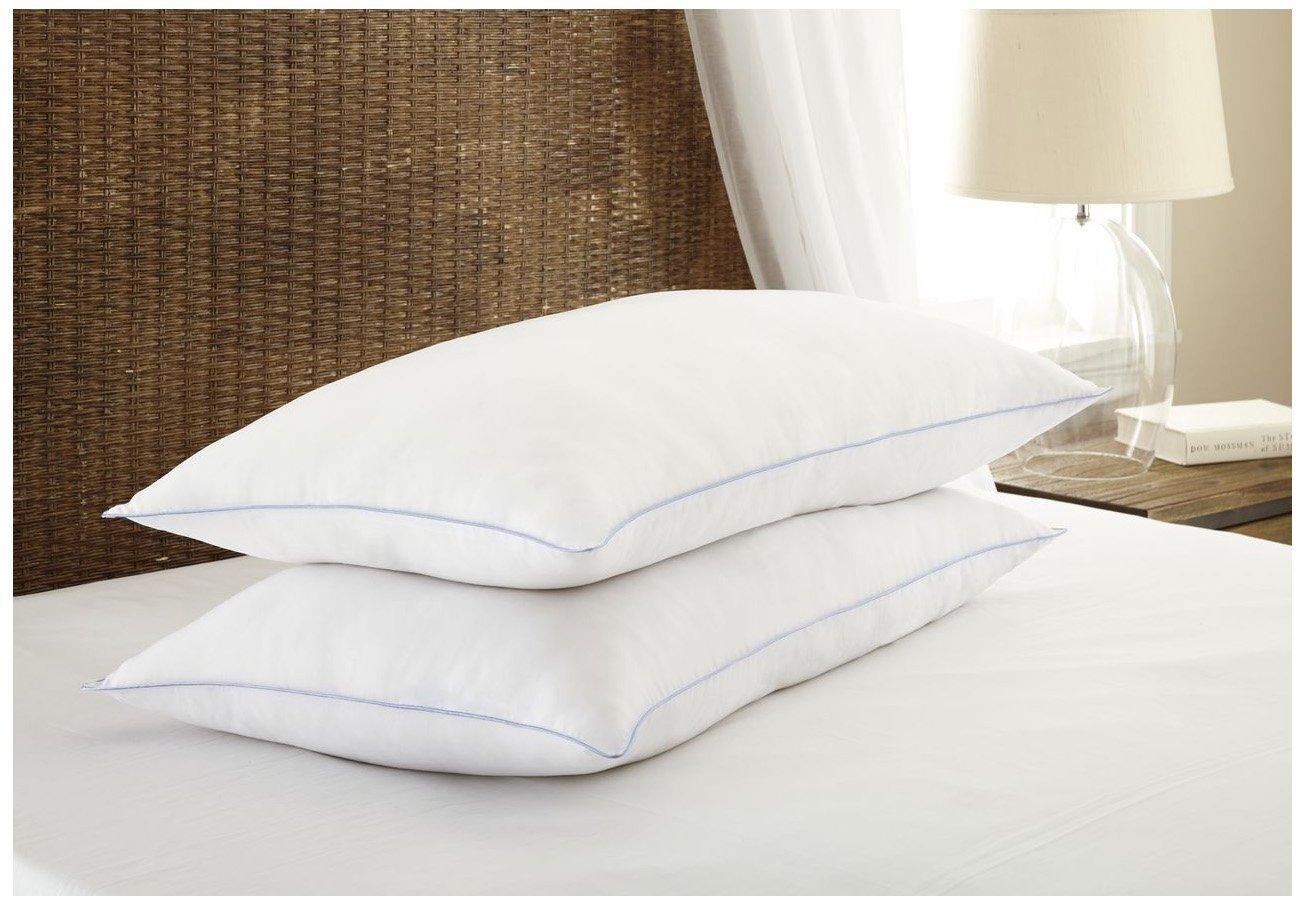 ienjoy Home Premium 2PC Down-Alternative Pillow Set with Soft Firmness, King, White