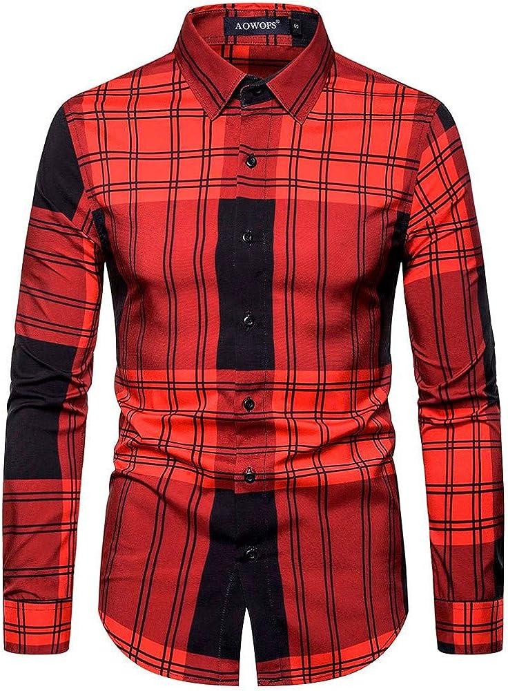 Camisa a Cuadros Grandes Shirt de Manga Corta Estampados de Cuadro para Hombre Camiseta Bonita y Cómoda para VeranorojoS: Amazon.es: Ropa y accesorios