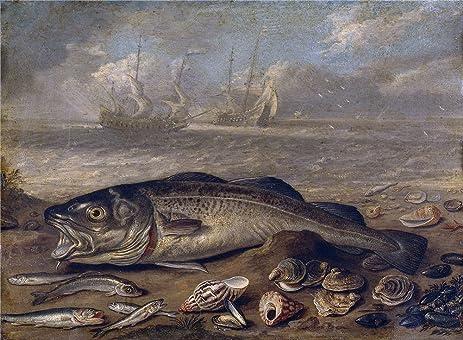 Amazon.com: Oil Painting \'Kessel The Elder Jan Van Pescados Y Marina ...
