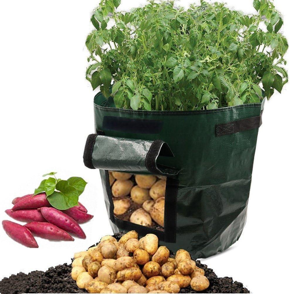 ASOON 2-Pack 7 Gallon Garden Potato Grow Bag Vegetables Planter Bag with Access Flap for Potato Grow