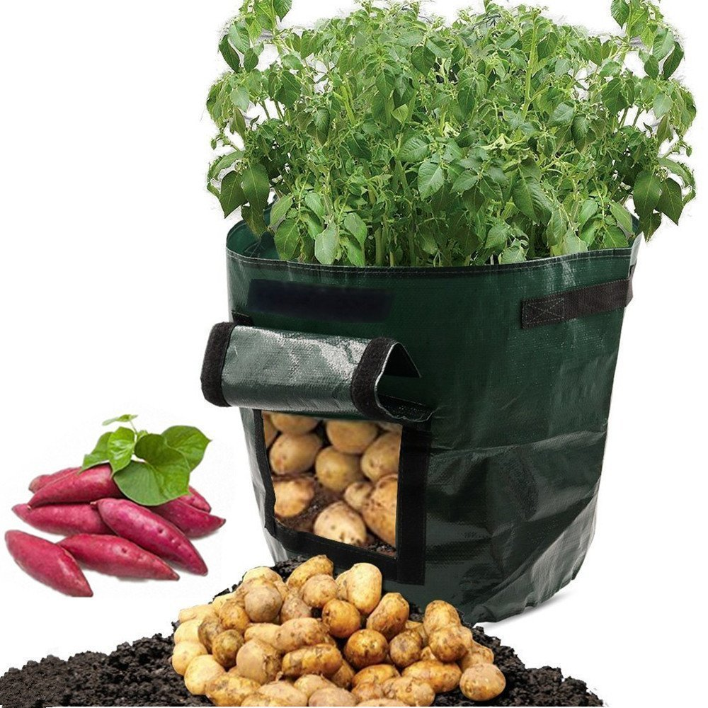ASOON 2-Pack 7 Gallon Garden Potato Grow Bag Vegetables Planter Bags with Handles and Access Flap for Potato, Carrot & Onion by ASOON