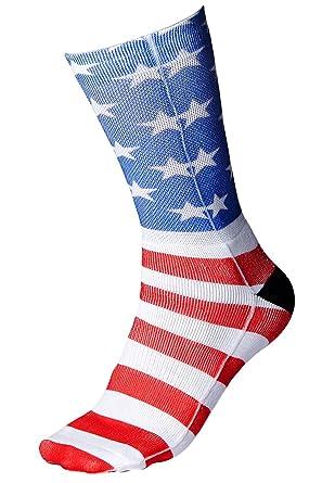 chicolife impression 3D chaussettes femme homme chaussettes Stocking avec  rayé étoile Amérique graphique US type Drapeau  Amazon.fr  Vêtements et ... 0732006235e