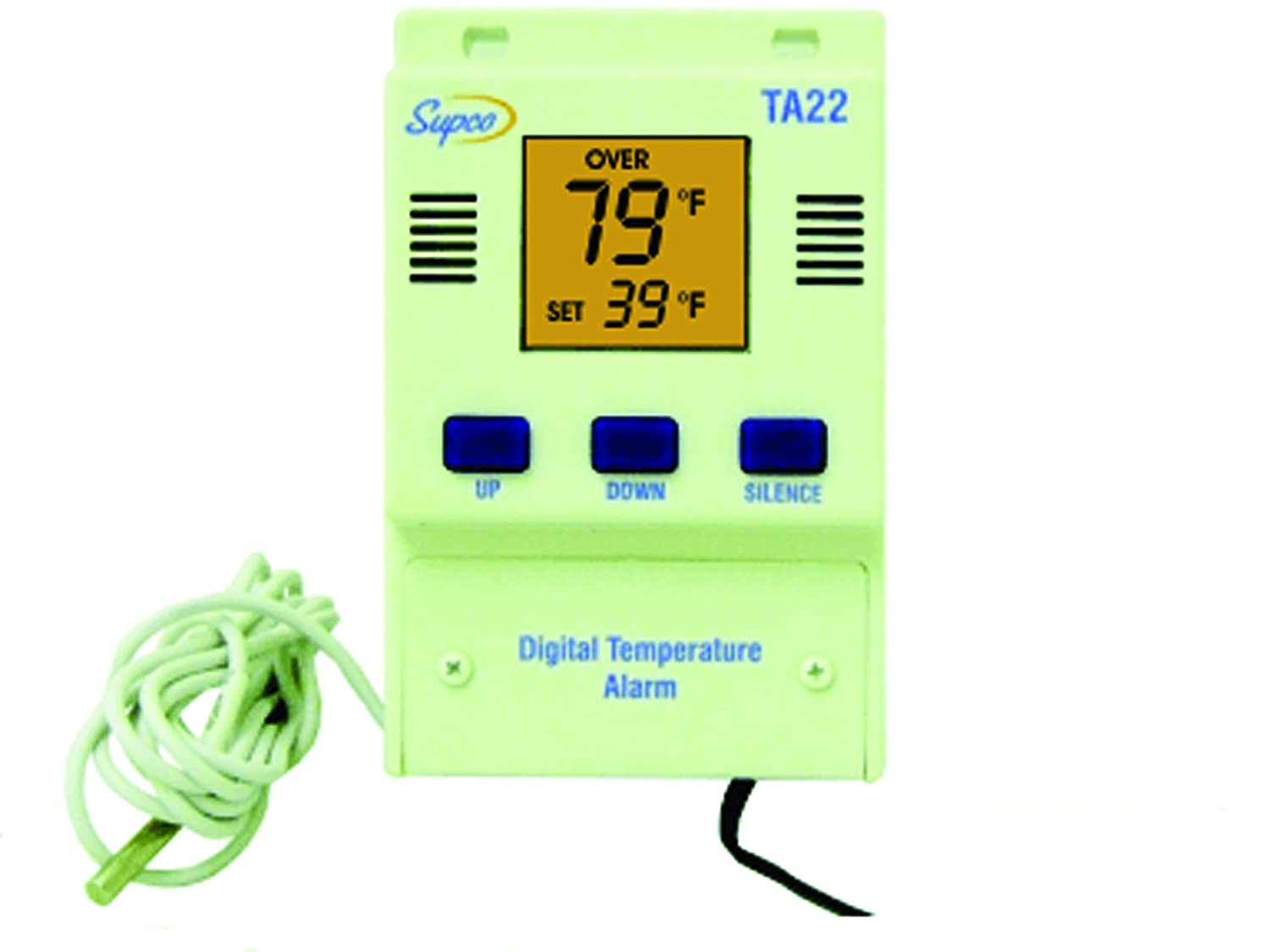Supco TA22 Single Set Point Temperature Alarm with Digital Display, -40 to 160 Degrees F, 120 VAC 14119