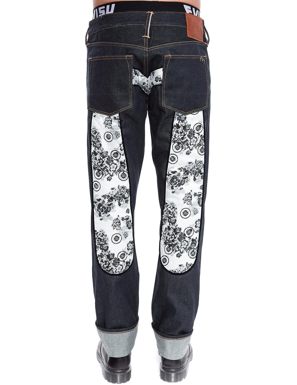 2008 Regular Fit Grey Kamon Print Daicock Selvedge Denim Jeans