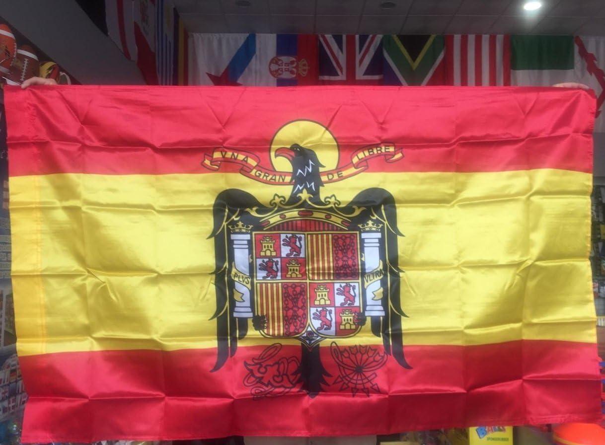 Gran Bandera de España Franco150 x 90 cm Satén Durobol Flag: Amazon.es: Hogar