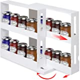 MDHAND Spice Rack Organizer, Multi-function Rotating Kitchen Spice Organizer, Seasoning Spice Jar Rack for Kitchen…