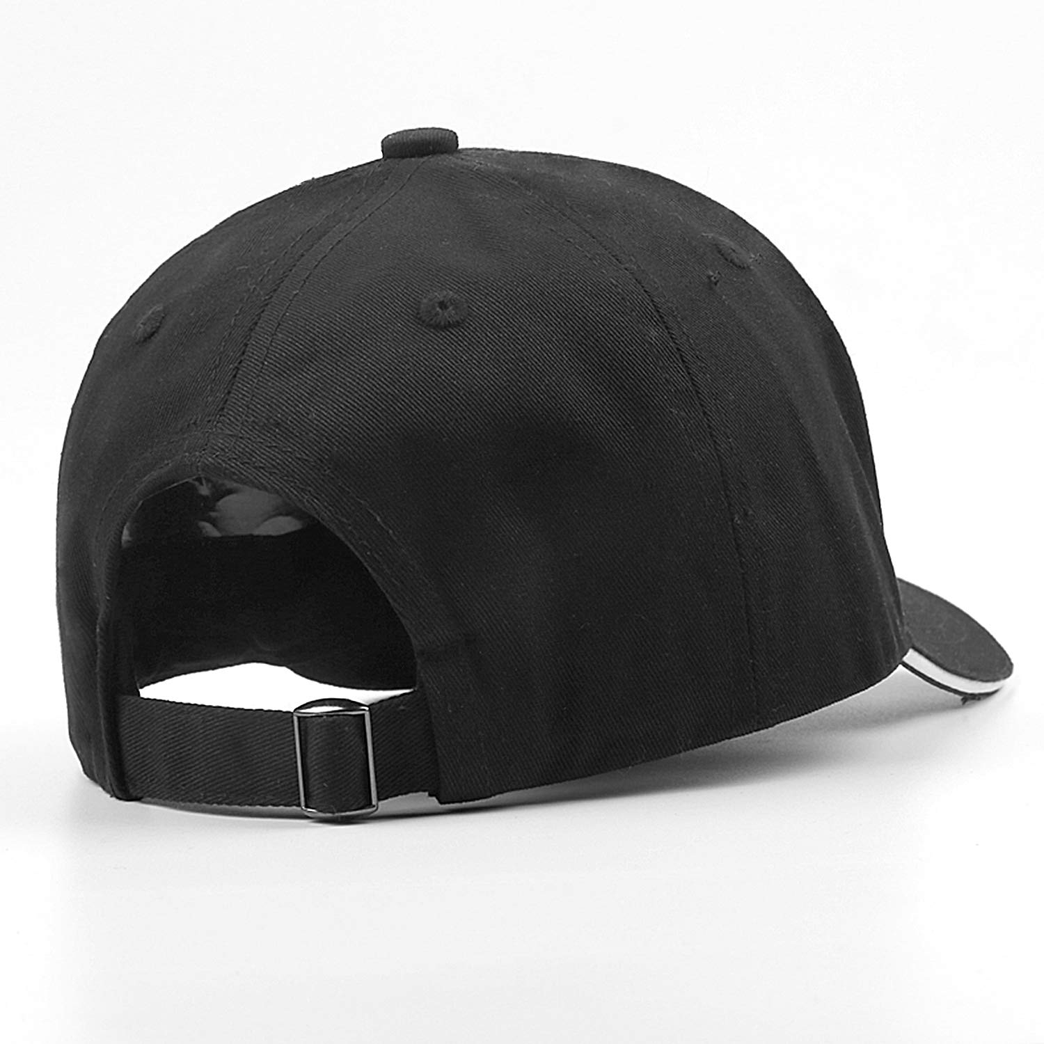 Fiexf Men Women Baseball Cap Lightweight Ugh Handwriting Black Letter Print