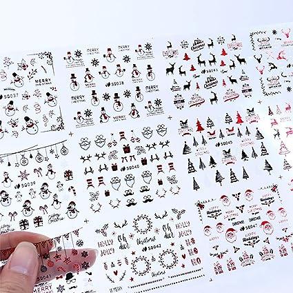 NCKLY Pegatina De Uñas 12 Diseño Etiqueta Engomada Del Clavo De La ...