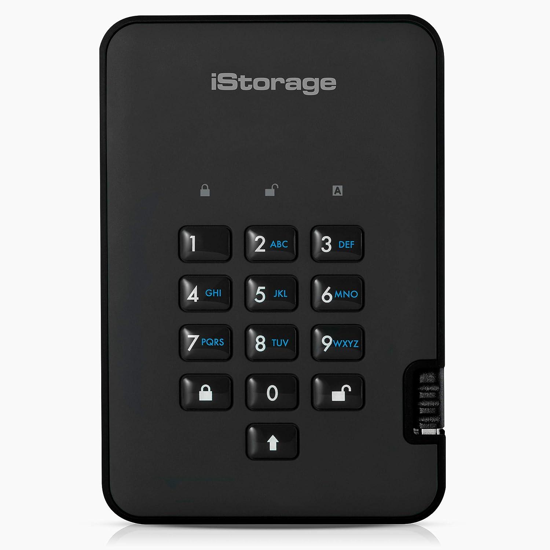 iStorage diskAshur2 HDD 2TB Black - Secure portable hard drive