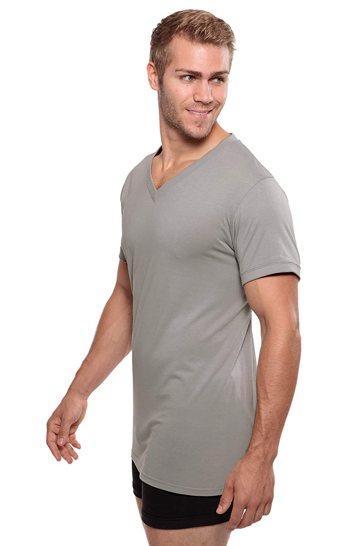 Texere Mens V-Neck Luxury Undershirt Meio Loungewear Tee in Bamboo Viscose MB6002