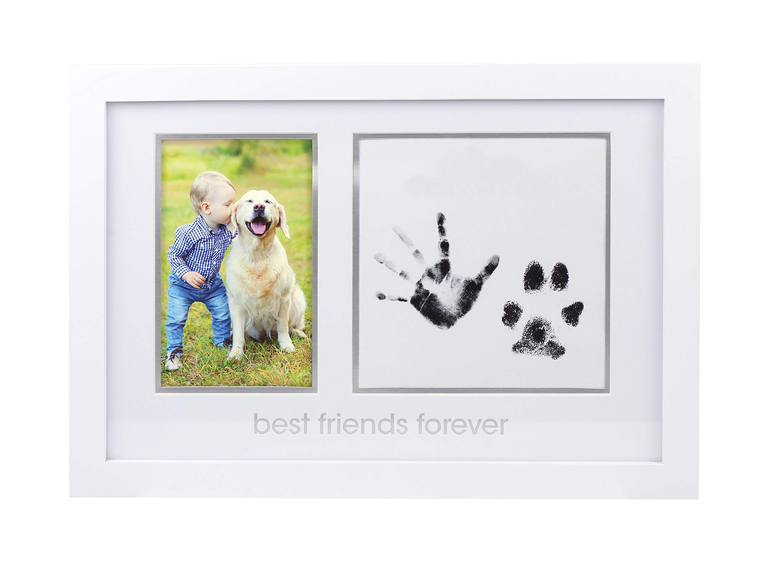 Pearhead Baby and Pet Best Friends Forever Keepsake Frame, Nursery Décor, Baby Shower Gift